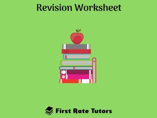 The Elizabethans Era Revision Worksheet