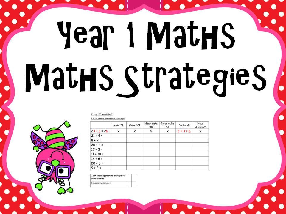 Year 1 Maths - to use maths strategies
