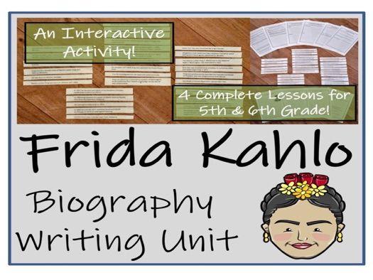 UKS2 Literacy - Frida Kahlo Biography Writing Unit
