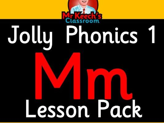 Phonics Worksheets, Lesson Plan, Flashcards | Jolly Phonics Letter M Lesson Pack