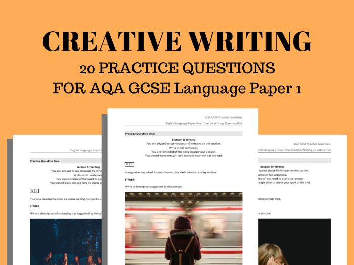 GCSE Creative Writing Practice Questions for AQA