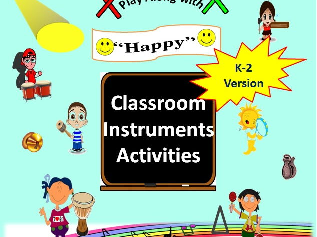 "Classroom Musical Instruments Play Along to ""Happy"" by Pharrell Williams, Grades K-2"
