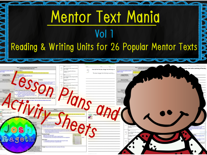 Mentor Text Mania Vol 1 NO Prep Reading Writing Units for 26 Picture Books