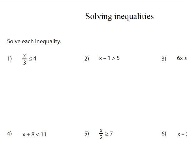 GCSE Maths Revision  Solving Inequalities