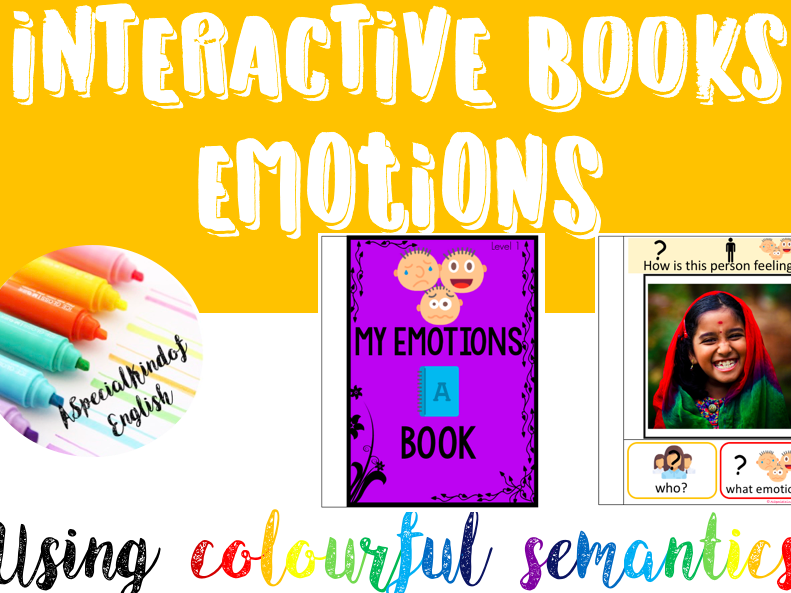 Interactive book: emotions - sentence writing using colourful semantics
