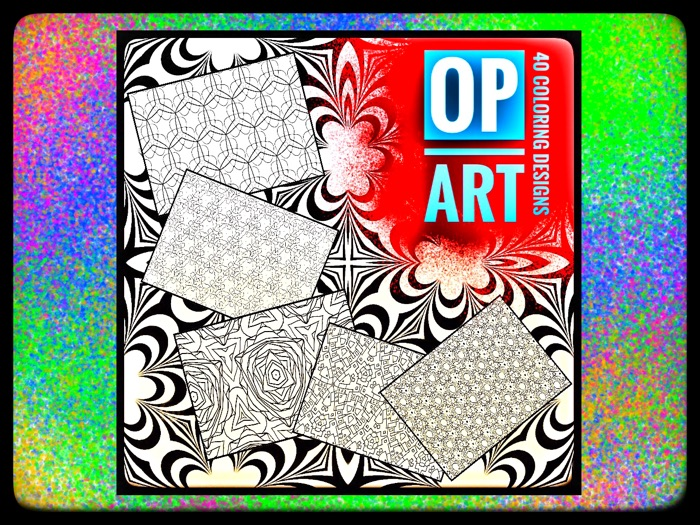 ART. Op Art Colouring activities