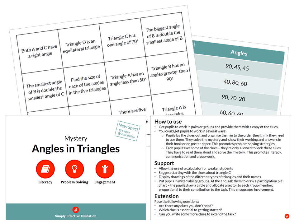 Angles in Triangles (Mystery)