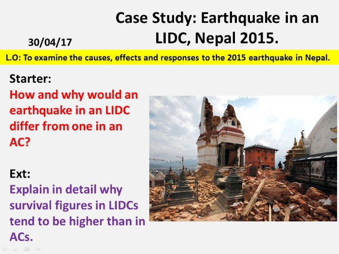NEW OCR GCSE - Natural Hazards: Nepal Earthquake Case Study