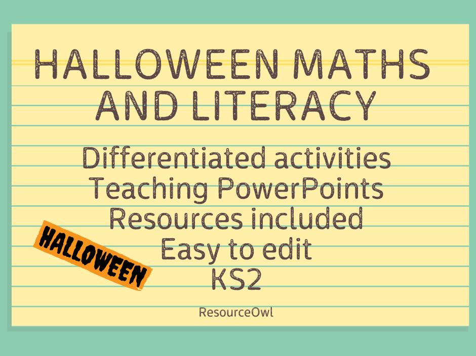Halloween maths and literacy