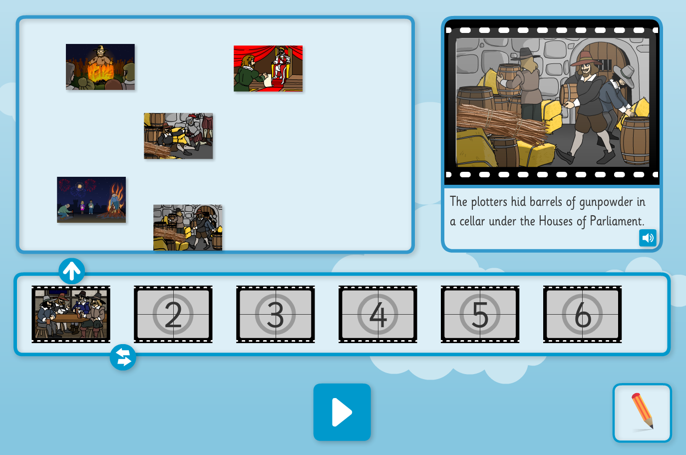 Guy Fawkes Sequence and Retell Interactive Activity - Guy Fawkes KS1