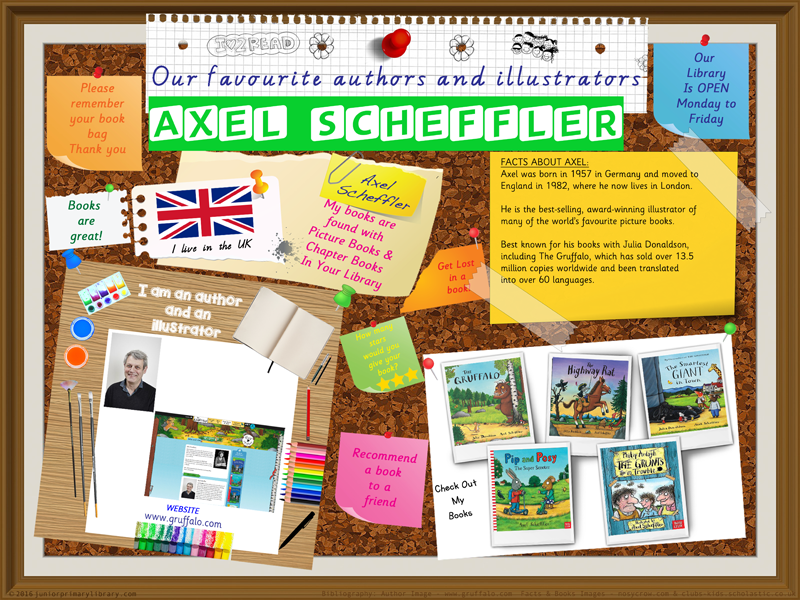 Library Poster - Axel Scheffler Author/Illustrator Of Picture Books