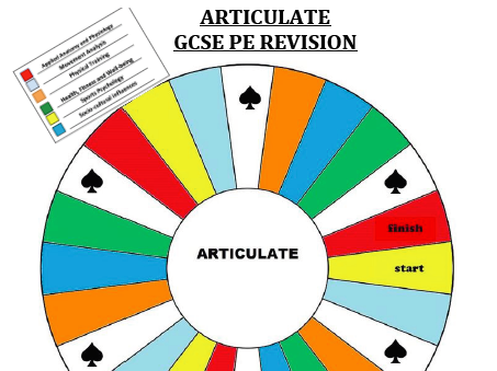 GCSE PE Articulate Game