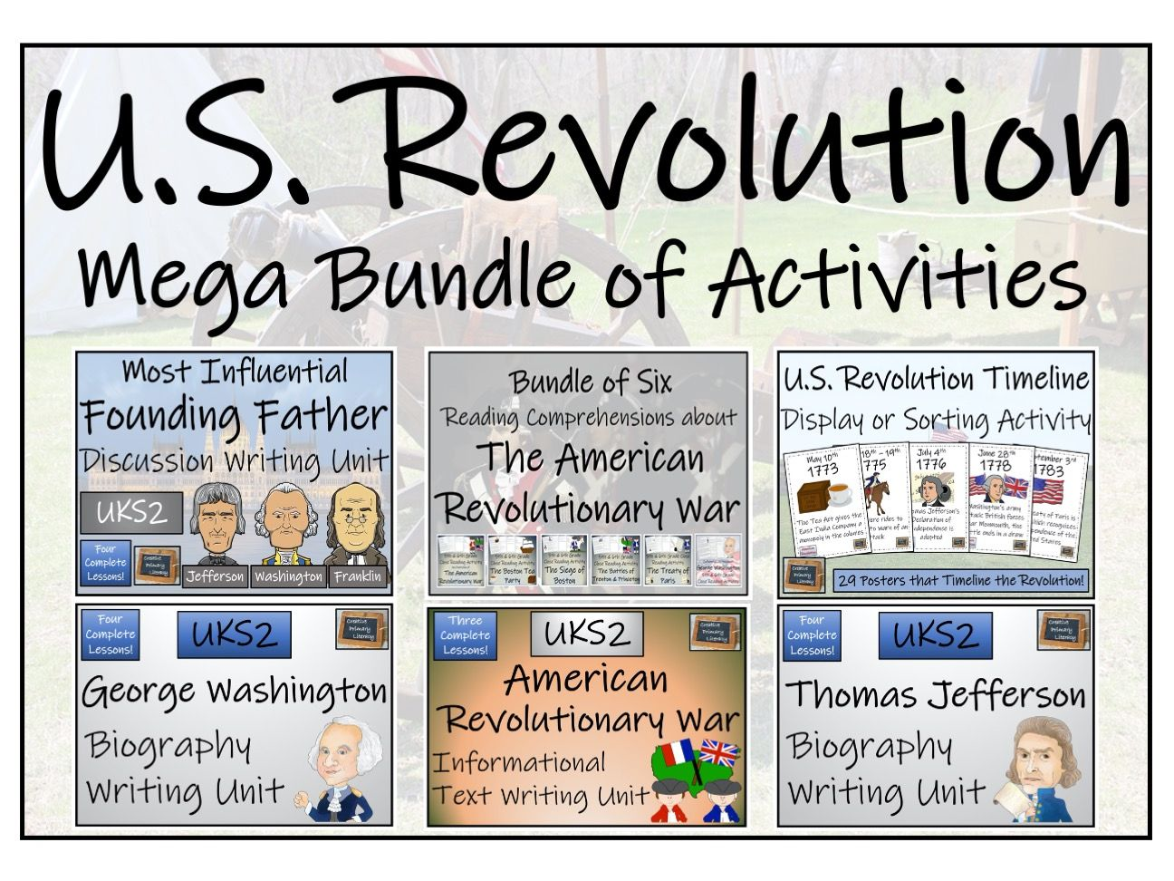 UKS2 - American Revolutionary War Display, Close Read & Writing Mega Bundle