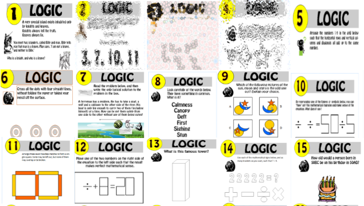 16 resource Logic Puzzle Bundle!! 1-16