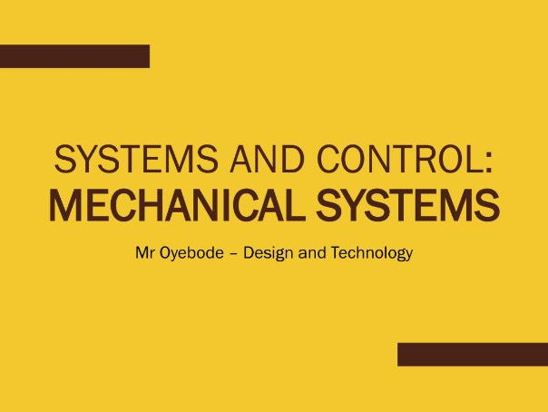 Systems and Control: Mechanical Systems