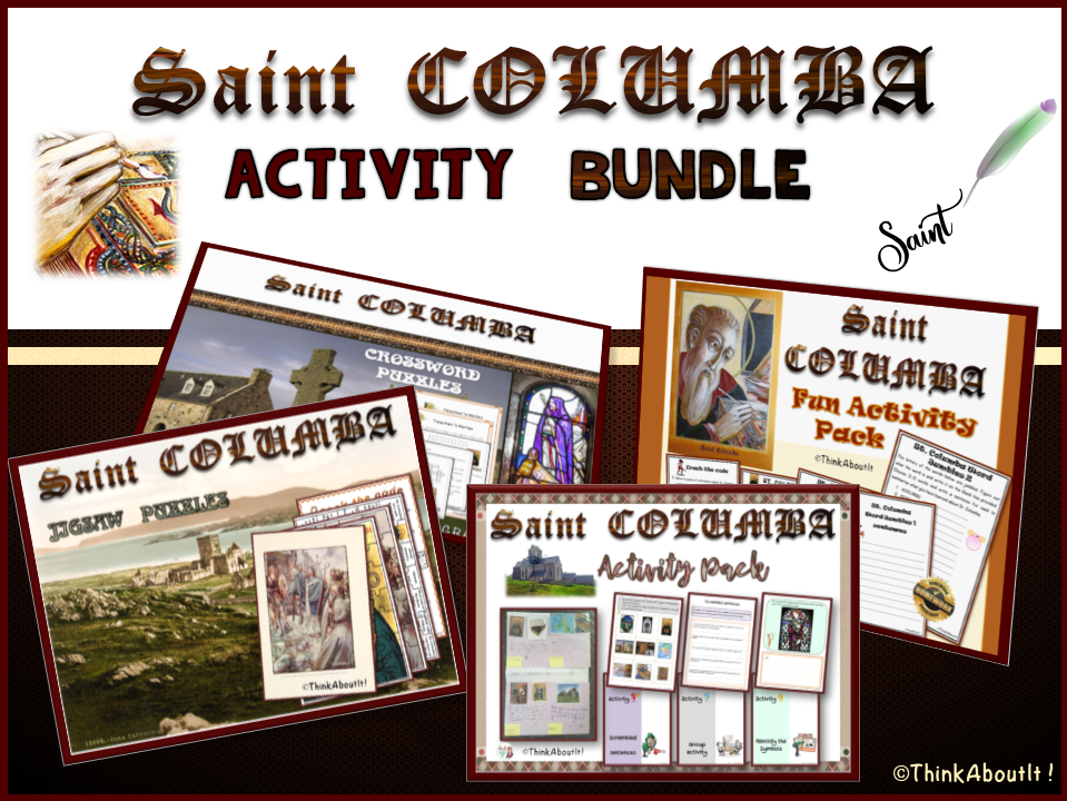 Christianity: St. Columba Activity Bundle