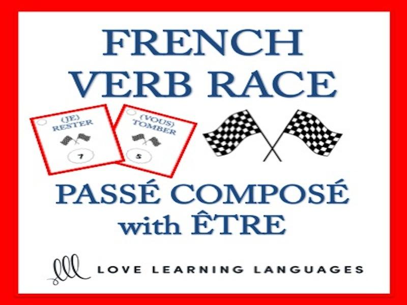 GCSE FRENCH: Passé Composé with Être - French Verb Race Game