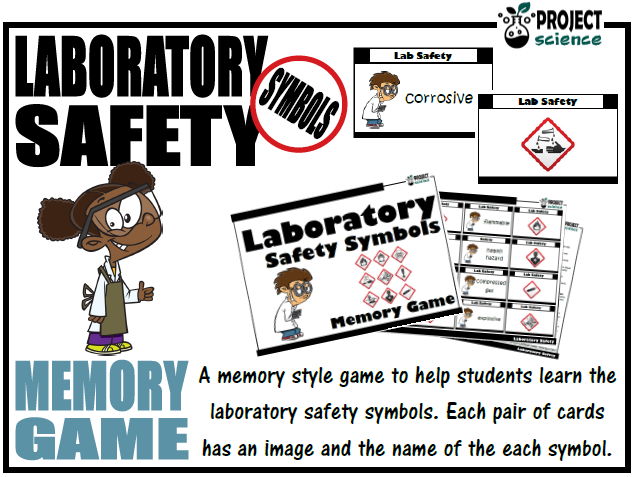 Laboratory Safety Symbols Memory Game | Teaching Resources