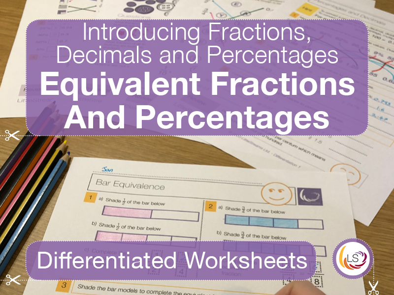 Equivalent Fractions and Percentages