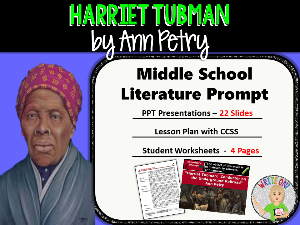Harriet Tubman: Conductor Underground Railroad by Ann Petry - Text Evidence Expository Writing
