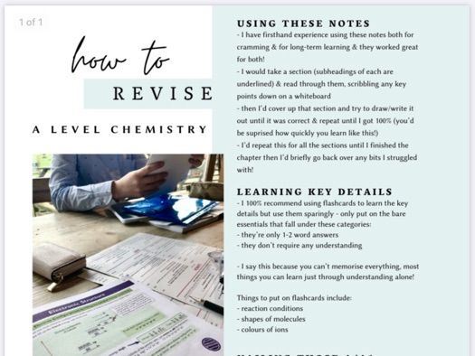A/A* guide to A-level Chemistry