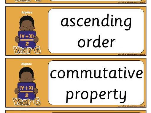 Year 6 Maths Vocabulary - Algebra