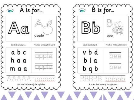 26 Page Alphabet Learning Set