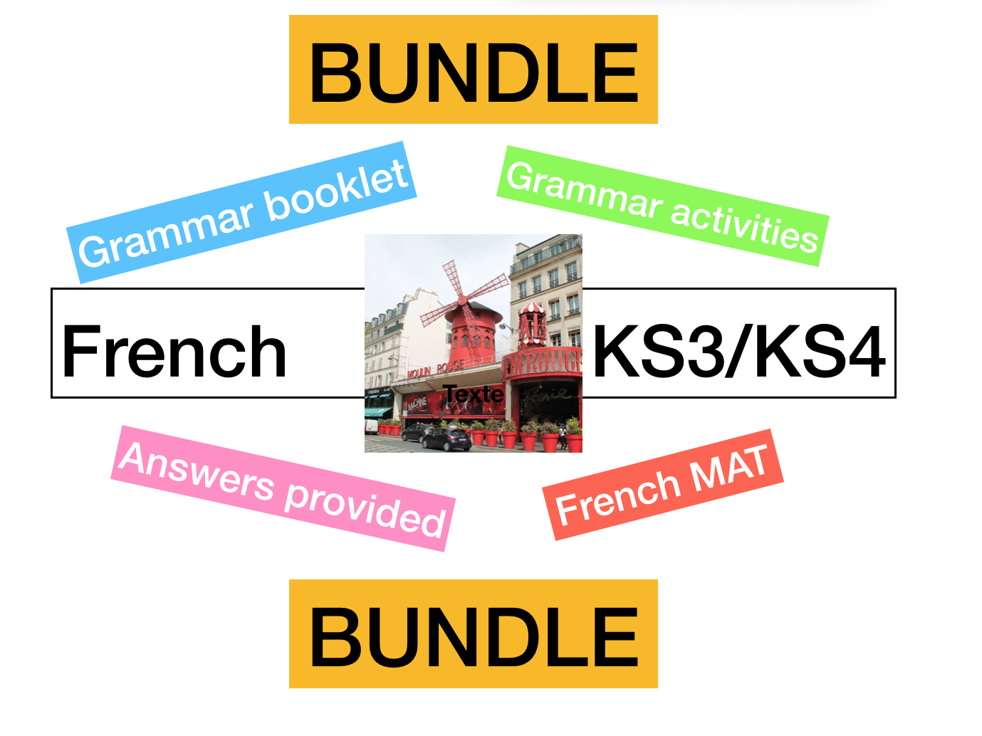 French - KS3 - Grammar Workbook / Worksheets