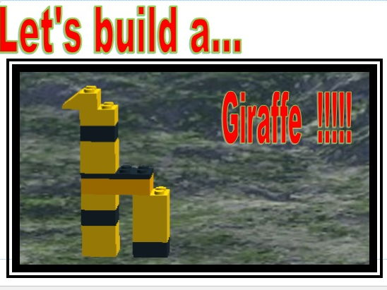 Instructions to build a Giraffe. Adapted for SEN pupils.