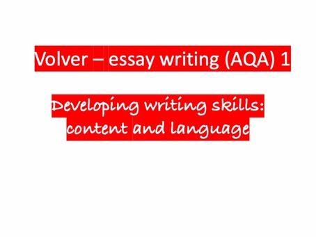 Volver - essay writing AQA