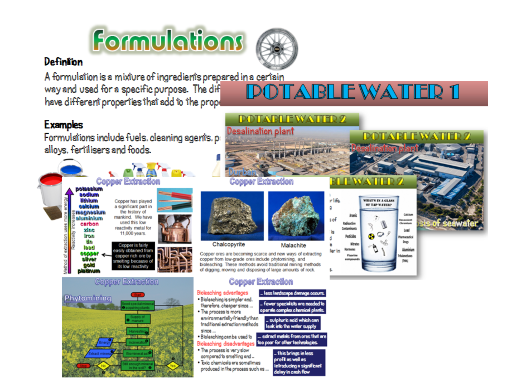 Potable Water New AQA 2016 Chemistry by amcooke Teaching