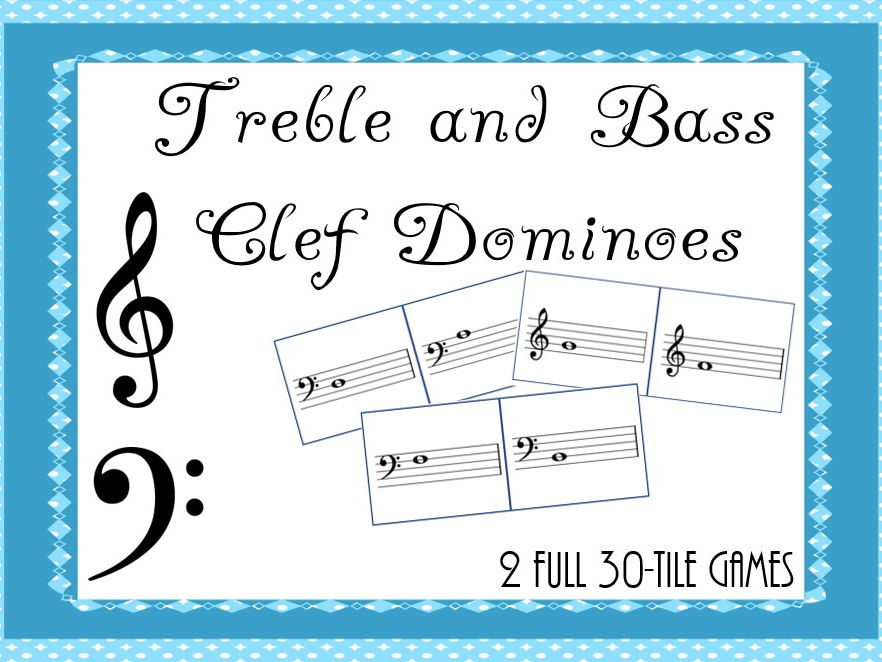 Treble and Bass Clef Dominoes
