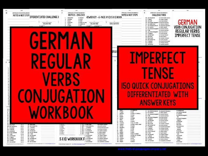 GERMAN REGULAR VERBS REVISION IMPERFECT TENSE