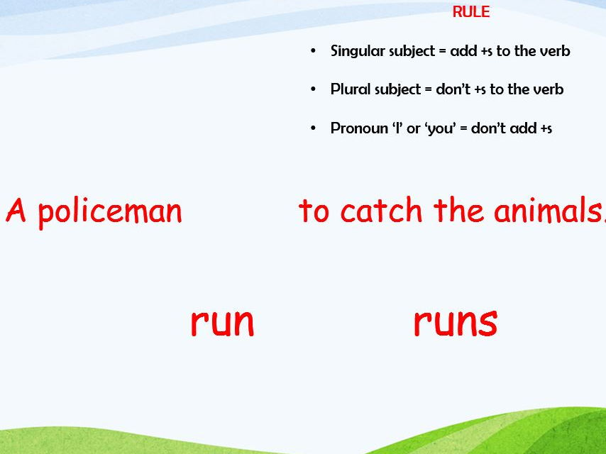 Subject Verb Agreement Powerpoint Worksheets By Barang Teaching