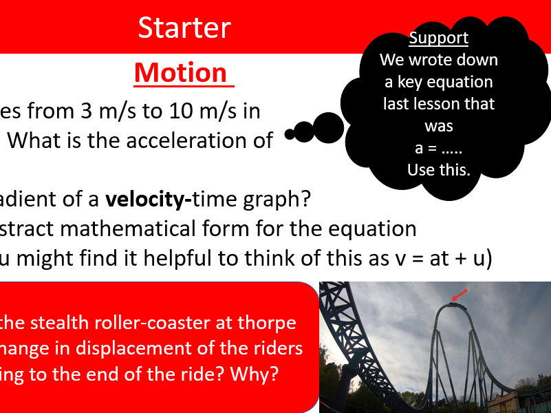 P9: Motion - Lessons and Questions/Answers