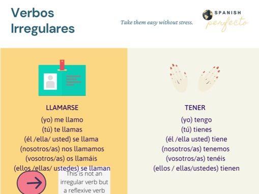 Most common irregular verbs