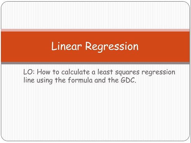 Least square regression
