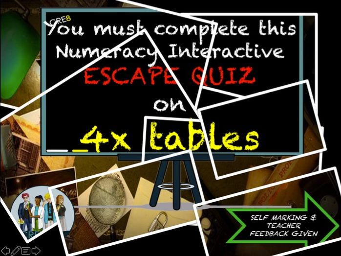 Multiplication Maths End of Term Quiz 4