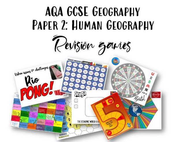 AQA GCSE Geography Paper 2 Revision Games
