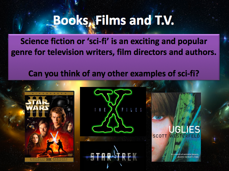 Four lessons exploring Sci-Fi - Reading, Writing and Group Tasks.
