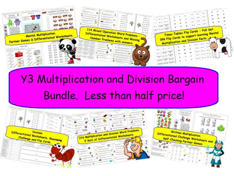 Y3 Multiplication and Division Bargain Bundle.  Less than half price!