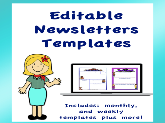 Editable Newsletters Templates Volume 1