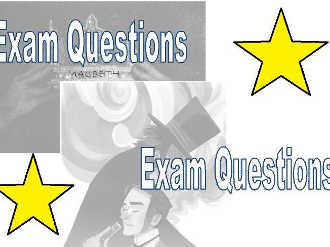 AQA Literature Paper 1- Possible question revision booklet