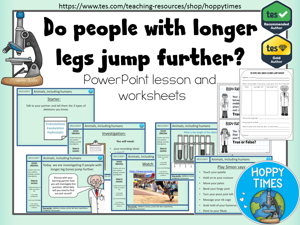 Science: Do people with longer leg bones jump further?