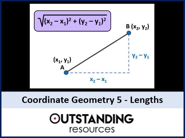 Coordinate Geometry 5 - Length of Line Segments (Pythagoras)