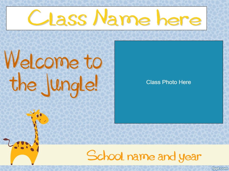 Back to School/Meet The Teacher/Open House Slideshow - Giraffe Theme (suitable for UK and US)