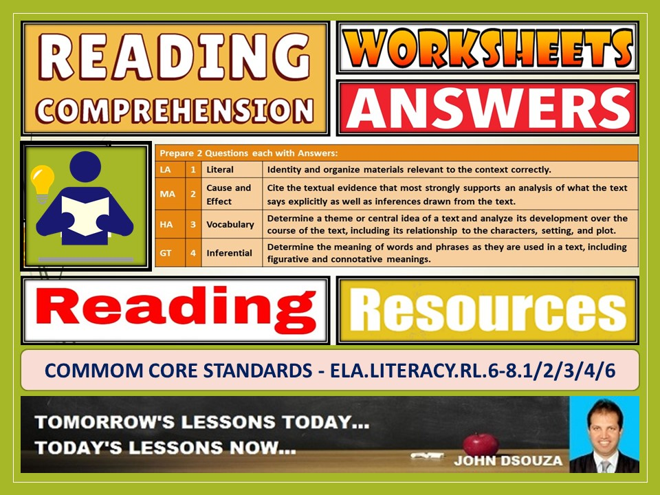 READING COMPREHENSION: WORKSHEETS WITH ANSWERS