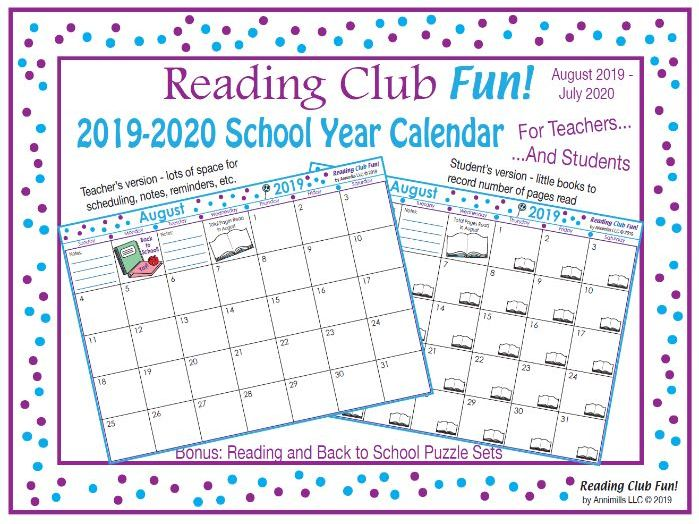 2019 - 2020 School Year Calendar (Editable) – FREE Back to School Packet