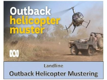 Outback helicopter mustering