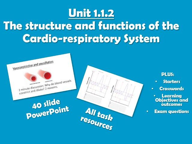 AQA GCSE PE (2016) 1.1.2 The Structure and Functions of the Cardio-respiratory System - Unit of Work